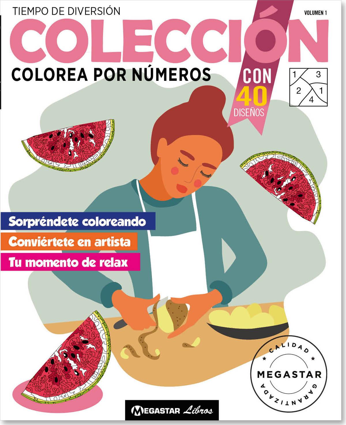 Colección Colorea por números Vol1